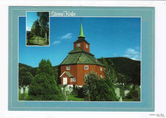Открытка из Норвегии кастел церковь  религия чистая
