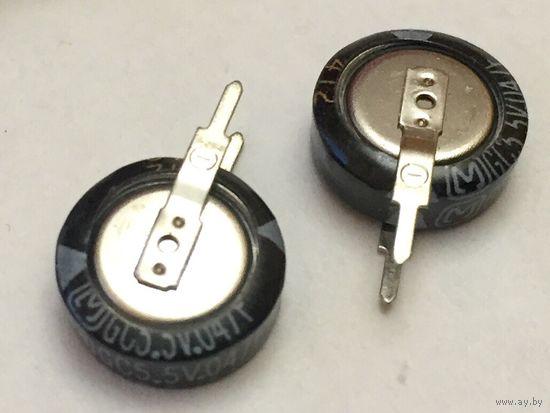 Суперконденсатор 47000 мкф. - 5,5 В, 5 мм. Ионистор. Супер конденсатор. 1105V. 0,047 Ф, 0,047Ф. 47000мкф. Ультраконденсатор. EECS0HD473V
