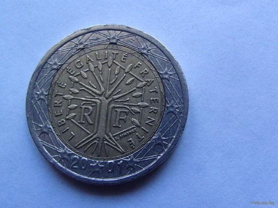 Франция 2 евро 2001г.  распродажа