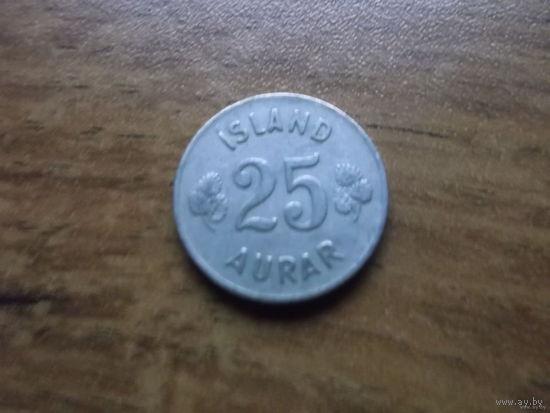 Исландия 25 эйре 1954
