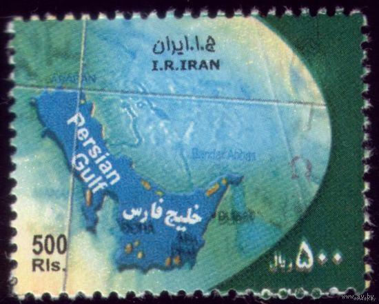 1 марка 2008 год Иран Карта
