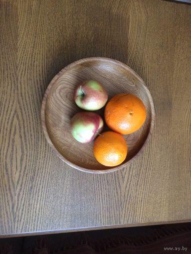 Большая тарелка, поднос Дуб Ручная работа