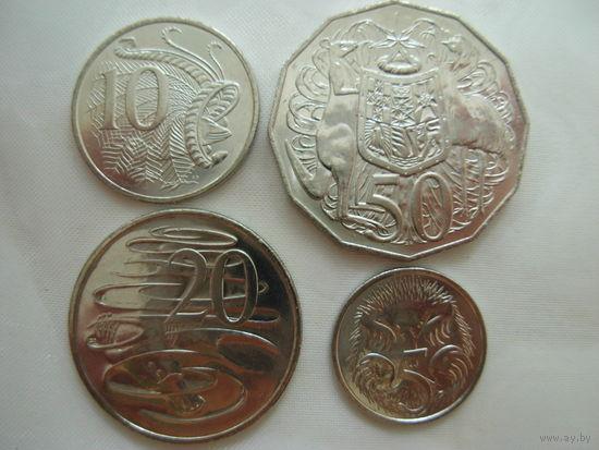 Австралия комплект 5, 10, 20, 50 центов 2016 50-летие десятичного обращения UNC