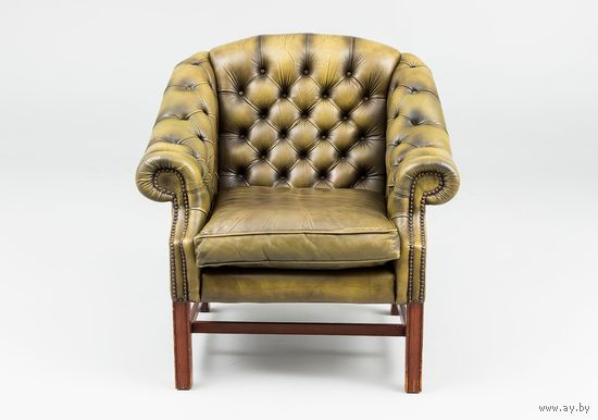 Английское кожаное кресло Chesterfield