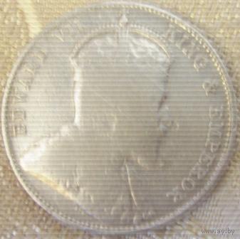 18. Поселение Стрейт 20 центов Эдвард 7 1910 год серебро-1*