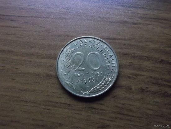 Франция 20 сантим 1968