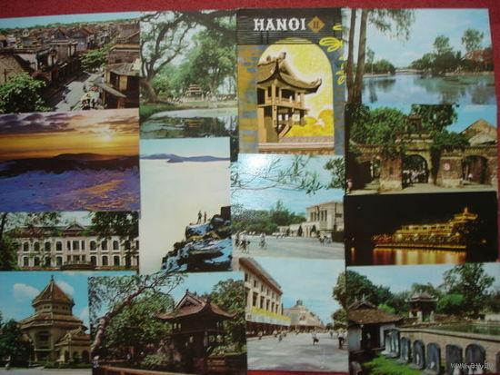 HANOI, VIETNAM. НАБОР ОТКРЫТОК.12шт. ХАНОЙ ШЕСТИДЕСЯТЫХ!