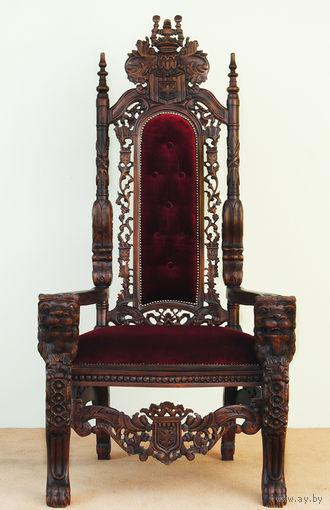 """Кресло - Трон Красное дерево """"Король"""""""