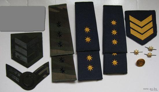 Комплекты погон и шевронов  офицера авиации Азербайджан