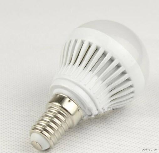 LED Светодиодная лампочка 4w(40ват) E14 (маленький цоколь) матовая энергосберегающая (20)