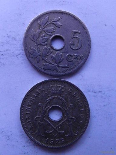 Бельгия. 5 сентимос 1925г. распродажа