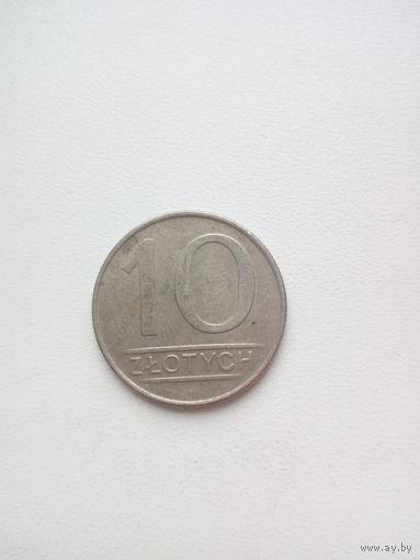 10 злотых 1987г. Польша