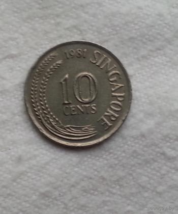 10 центов 1981 г. Сингапур