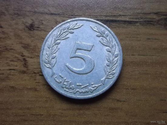 Тунис 5 миллим 1983