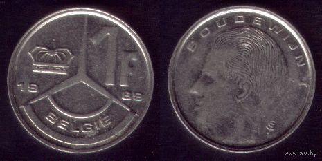 1 Франк 1989 год Бельгия