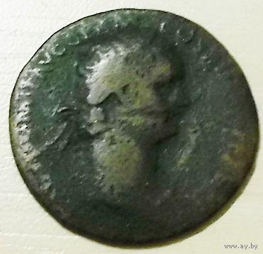 Древний Рим. DOMITIAN AE dupondius. 94-95 год н. э. 28mm