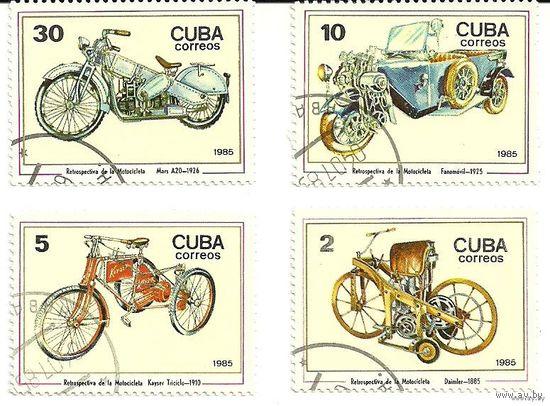 Транспорт ретро. Серия 4 марки 1985 Куба