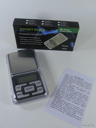 Цифровые ювелирные карманные весы MH-300/0.01! Новые, в Наличии!