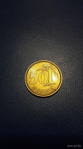 Финляндия - 50 пенни 1970 (S) KM#48 НЕ МАГНИТ!!!