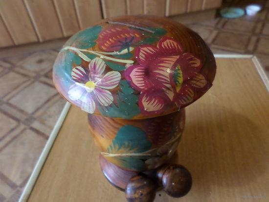Копилка деревянная, из СССР