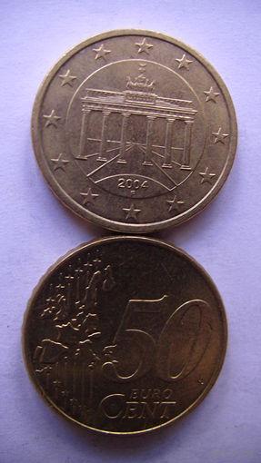 Германия 50 евро центов 2004г. F   распродажа