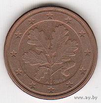 Германия 5 евро центов 2002 г. А   распродажа