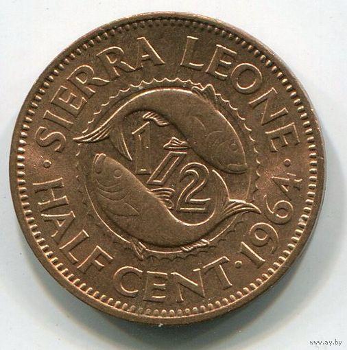 (A3) СЬЕРРА ЛЕОНЕ - 1/2 ЦЕНТА 1964 UNC