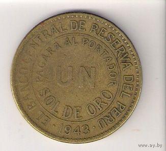 Перу, 1 sol, 1943г