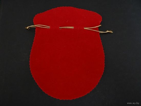 Мешочек для украшения красный бархат