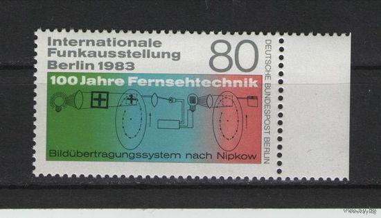 Западный Берлин 1983 г. Mi N 702** 100 лет со дня открытия телевидения