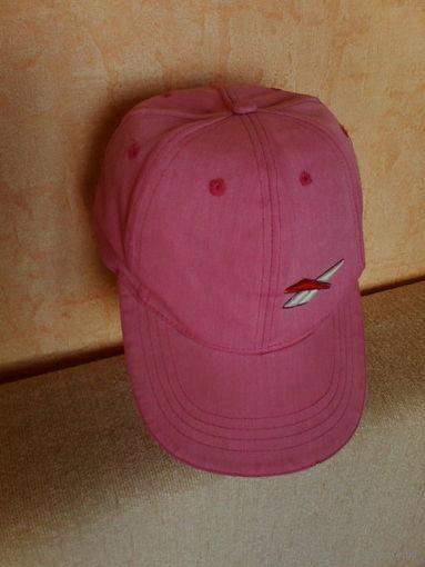 Бейсболка розовая с регулировкой,хб.