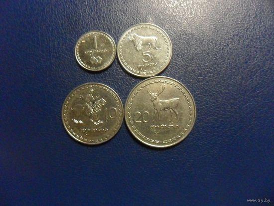 Грузинский зоопарк - 4 монеты одним лотом