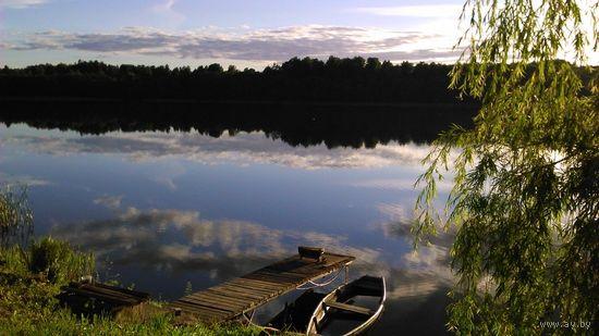 Участок с фундаментом 6*8 и прямым выходом к озеру