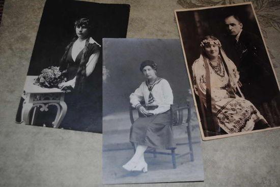 """Сборная серия старинных фотографий, по теме: """"Тому, кого люблю..."""" - моя коллекция до 1929 года - антикварная редкость - цена за всё, что на фото, по отдельности пока не продаю-!"""