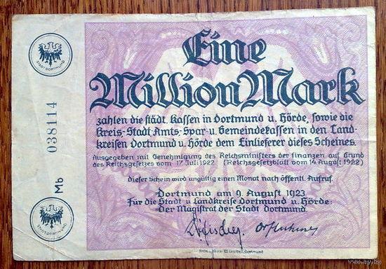 1 миллион марок 1923г. Дортмунд
