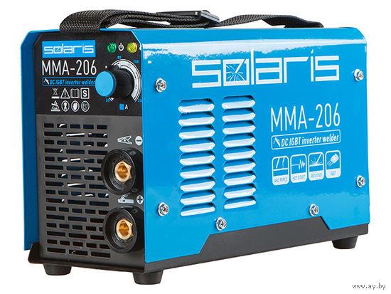 Инвертор сварочный SOLARIS MMA-206 (230В, 20-200 А, электроды диам. 1.6-4.0 мм, вес 3.7 кг)