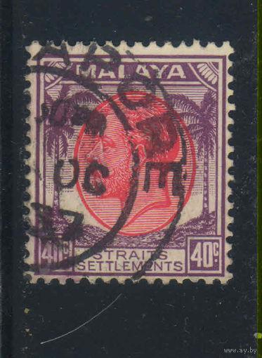 GB Колонии Малайя Стрейтс Сетлментс 1936 GV Стандарт #202