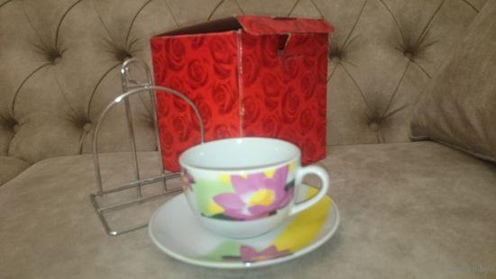 Подарочный набор чашка на подставке