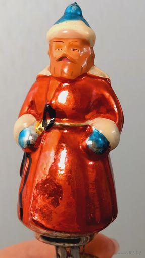 Мужик с кнутом елочная игрушка СССР