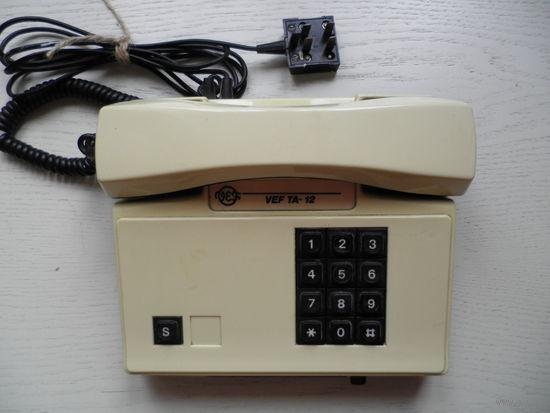 Телефон кнопочный VEF TA-12, рабочий