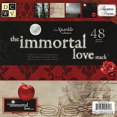 Набор бумаги для скрапбукинга DCWV - Immortal Love Paper Stack, 30х30 см, 48 листов. Только весь. Цена с пересылом!