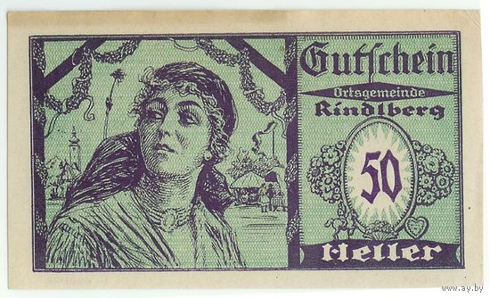 Австрия, (Нотгельд) 50 heller 1921 год.