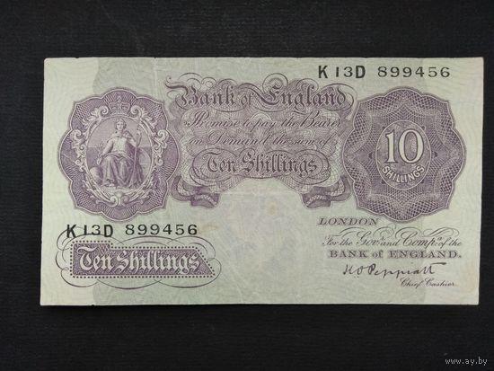 10 шиллингов 1948-1949 года. Великобритания. Распродажа.