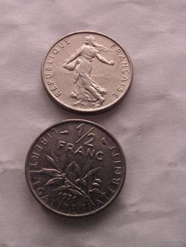 1\2 франка франции 1971г. распродажа