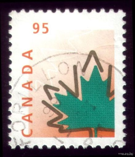 1 марка 1998 год Канада Кленовый лист