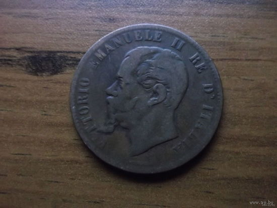 ИТАЛИЯ 10 чентезими 1863