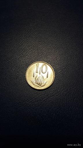 Южная Африка (ЮАР) - 10 центов 1972 г. km#85