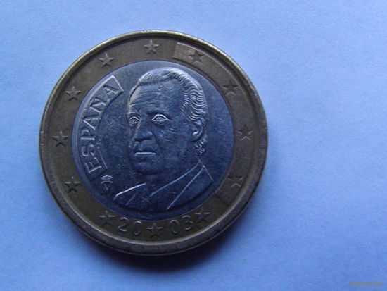 Испания 1 евро 2003г.  распродажа