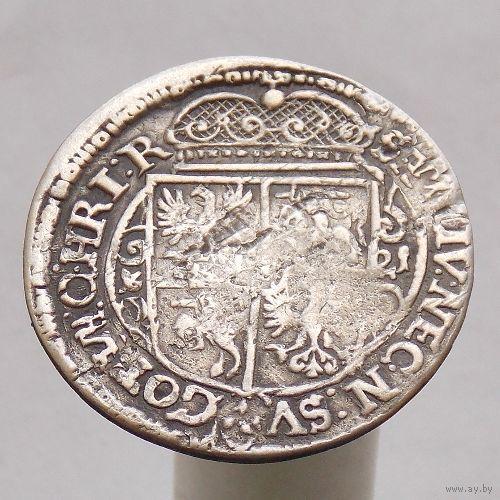1/4 талера (орт) 1621 Сигизмунд III Ваза