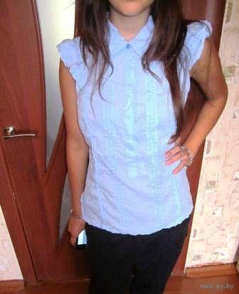 Блуза цвет -НЕБА известной фирмы VERO MODA ТУРЦИЯ